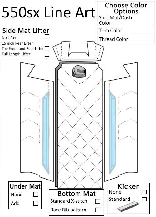 Jettrim Kawasaki 550SX (6pc) Mat Kit